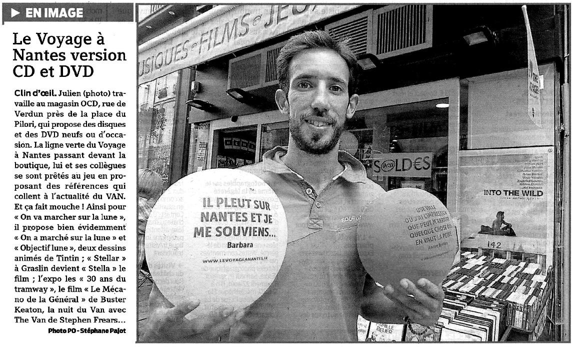 Article presse O'CD Nantes - Presse Océan juillet 2015