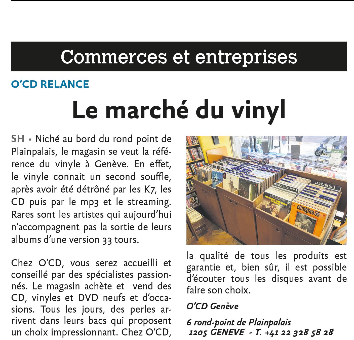 Le marché du vinyl OCD